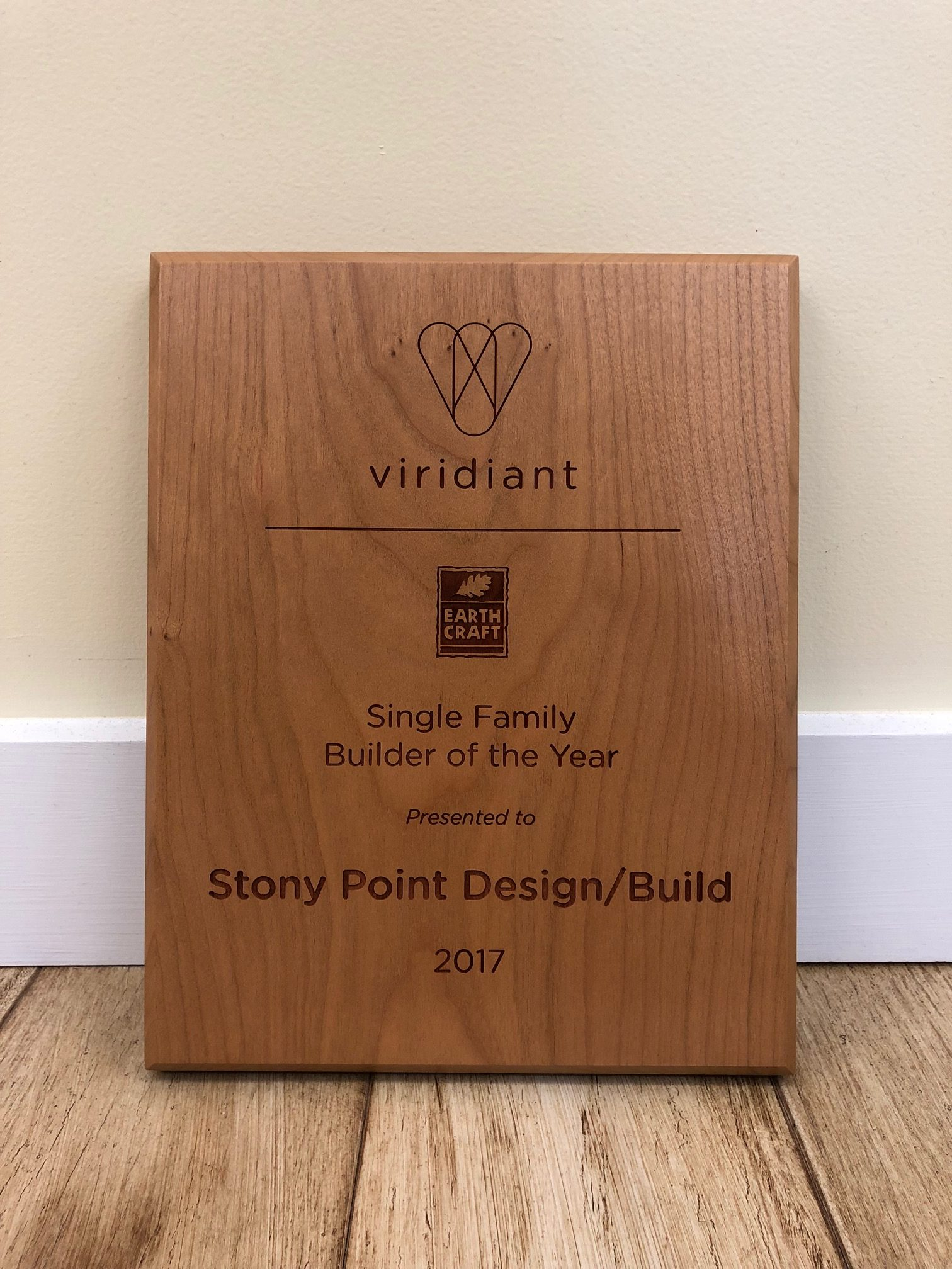 "Stony Point Design/Build Named ""Single Family Builder of the Year"" at the 2018 Sustainable Leadership Awards"